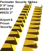 Perimeter Security Spikes