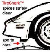 TireShark� brand Traffic Spikes by TrafficSpikesUSA.com / Monsoon Mfg. LLC. One-way access control systems for road traffic, retractable tire poppers, Tiger Teeth, Cobra, Enforcer motorized spike strips for in-ground & surface installation, directional treadle systems for in-bound and out-bound pneumatic tires. Discount: apartment complex, shopping center, mall, airport, military base, factory and business to protect parking lot, employee, security, public access, commercial property. Contractors welcome.